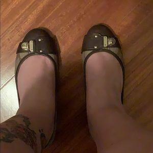 Coach flats Brown shoes size  8